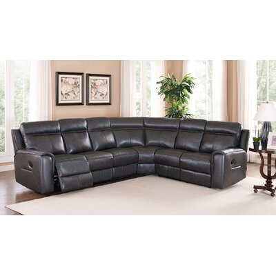 Vernetta Leather Reclining Sectional