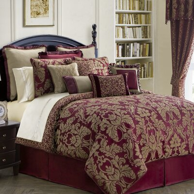 Athena 4 Piece Reversible Comforter Set Size: King