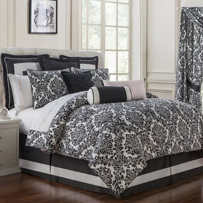 Lisette 4 Piece Reversible Comforter Set Size: Queen