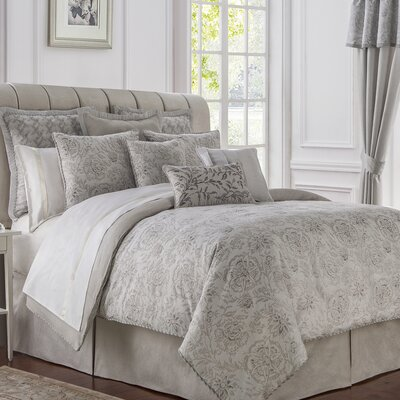 Sophia 4 Piece Reversible Comforter Set Size: King