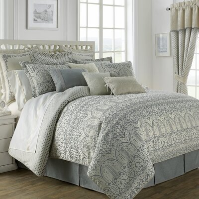 Allure 4 Piece Reversible Comforter Set Size: King