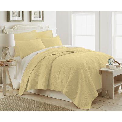 Ocean View Quilt Color: Double Cream, Size: King