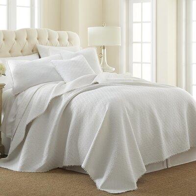 Brautigan Cotton Reversible Quilt Set Size: King, Color: White