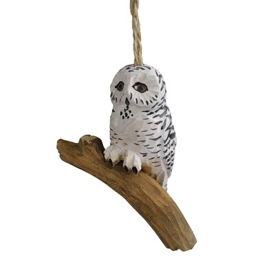 Handcrafted Wood Snowy Owl Hanging figurine (Set of 4) THDA5946 42974150