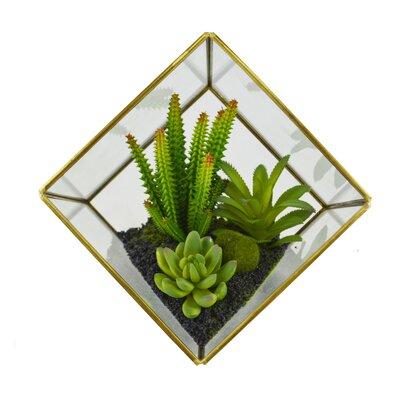 Artificial Cube Desktop Succulent Plant