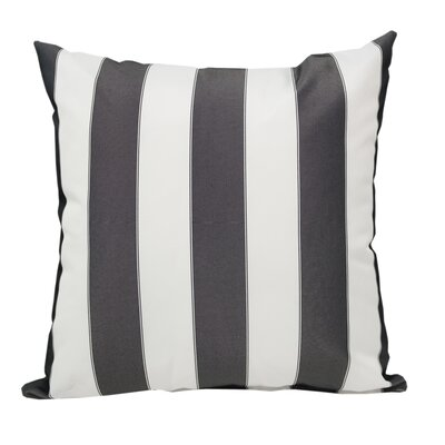 Stripe Outdoor Throw Pillow Color: Black
