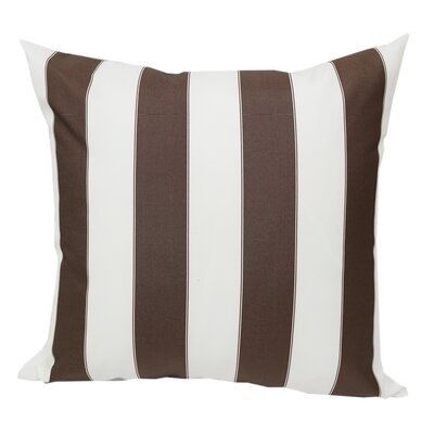 Stripe Outdoor Throw Pillow Color: Brown