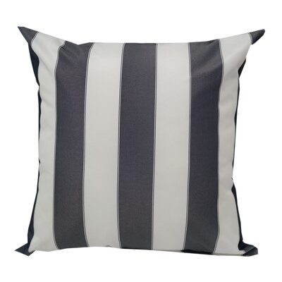 Stripe Outdoor Throw Pillow Color: Navy