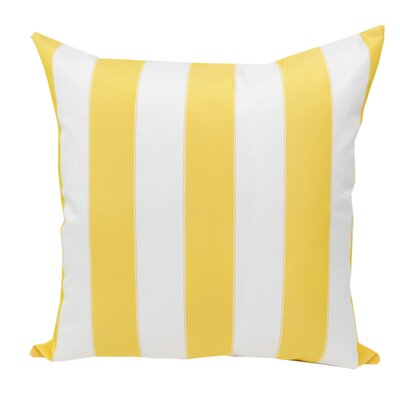 Stripe Outdoor Throw Pillow Color: Yellow