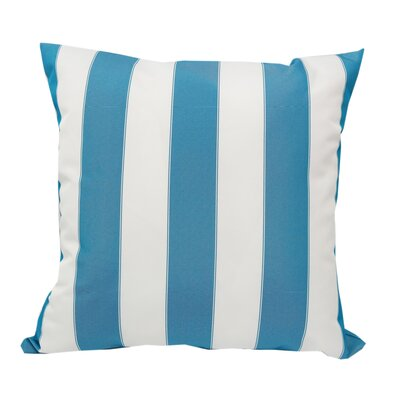Stripe Outdoor Throw Pillow Color: Aqua