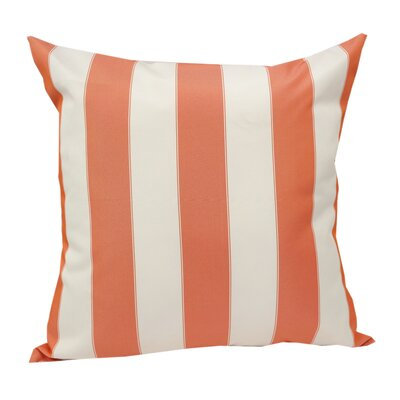 Stripe Outdoor Throw Pillow Color: Orange