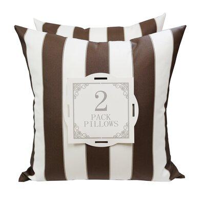 Outdoor Throw Pillow Color: Brown