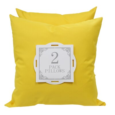 Outdoor Throw Pillow Color: Yellow