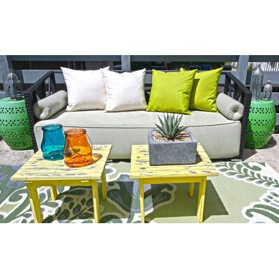 Outdoor Throw Pillow Color: Green, Size: 18 x 18