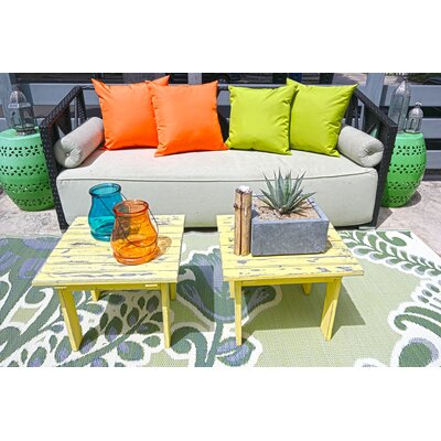 Outdoor Throw Pillow Color: Orange, Size: 18 x 18