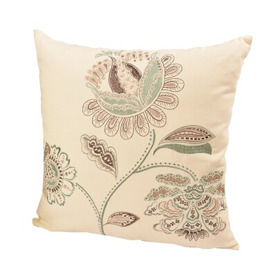 Dubois Embroidered Throw Pillow