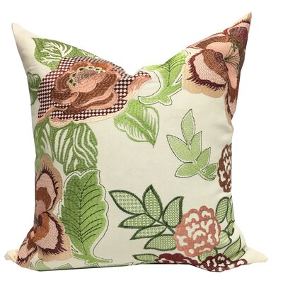 Aletha Embroidered Throw Pillow
