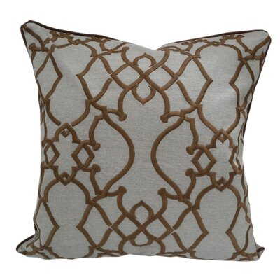 Godines Embroidered Geometric Throw Pillow