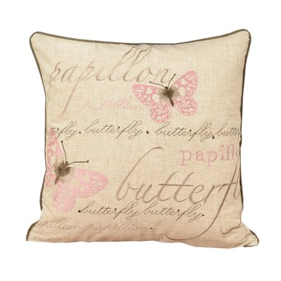 Irenee Embroidered Shabby Elegance Throw Pillow