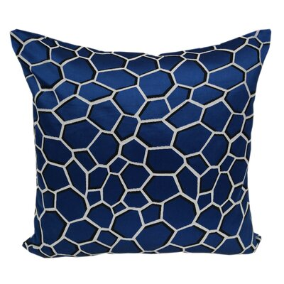Chancy Modern Geometric Throw Pillow Color: Blue
