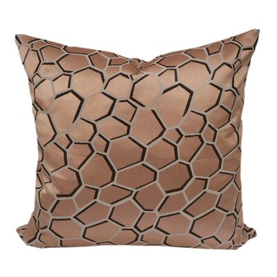 Chancy Modern Geometric Throw Pillow Color: Copper