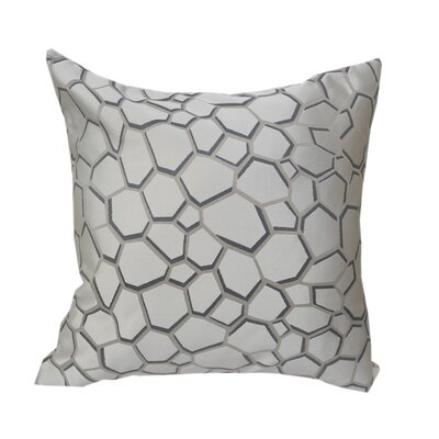 Chancy Modern Geometric Throw Pillow Color: Silver