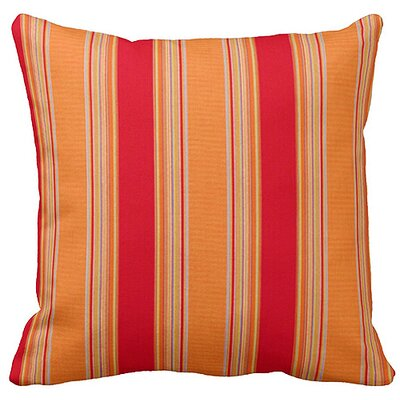 Lichtenstein Bravada Outdoor Sunbrella Throw Pillow Color: Salsa