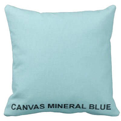 Lincolnville Outdoor Sunbrella Throw Pillow Color: Mineral Blue
