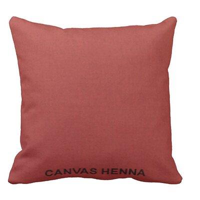 Lincolnville Outdoor Sunbrella Throw Pillow Color: Henna