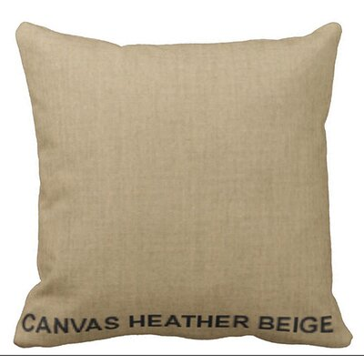 Lincolnville Outdoor Sunbrella Throw Pillow Color: Heather Beige