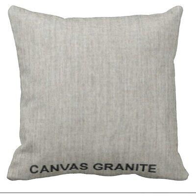 Lincolnville Outdoor Sunbrella Throw Pillow Color: Granite