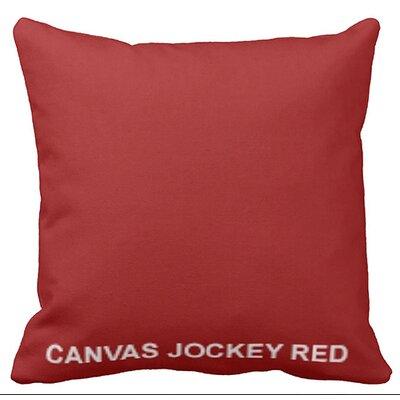 Lincolnville Outdoor Sunbrella Throw Pillow Color: Jockey Red