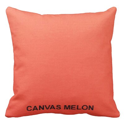 Lincolnville Outdoor Sunbrella Throw Pillow Color: Melon