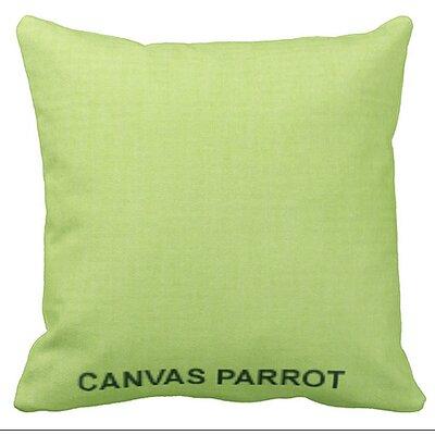 Lincolnville Outdoor Sunbrella Throw Pillow Color: Parrot