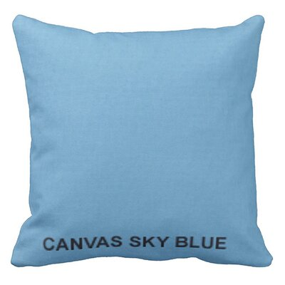 Lincolnville Outdoor Sunbrella Throw Pillow Color: Sky