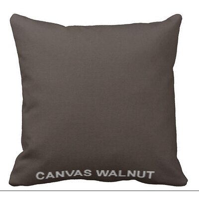 Lincolnville Outdoor Sunbrella Throw Pillow Color: Walnut