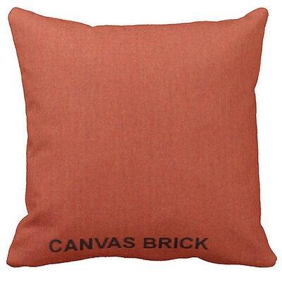 Lincolnville Outdoor Sunbrella Throw Pillow Color: Brick