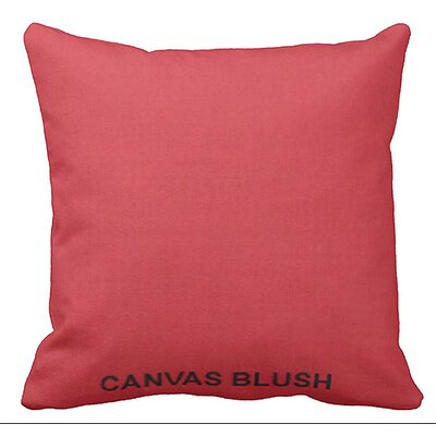 Lincolnville Outdoor Sunbrella Throw Pillow Color: Blush