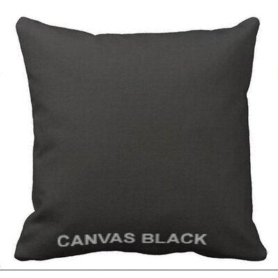 Lincolnville Outdoor Sunbrella Throw Pillow Color: Black