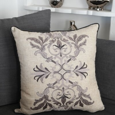 Goehring Embroidered Whimsical Throw Pillow