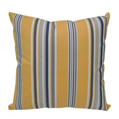 Denning Yellow Multi Striped Outdoor Throw Pillow