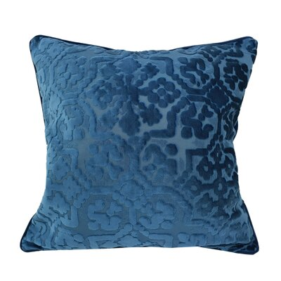 Heswall Modern Throw Pillow Color: Indigo