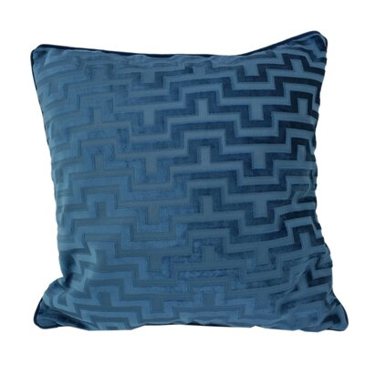 West Mersea Modern Throw Pillow Color: Indigo
