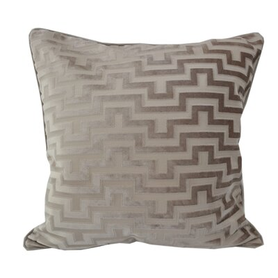 West Mersea Modern Throw Pillow Color: Tan
