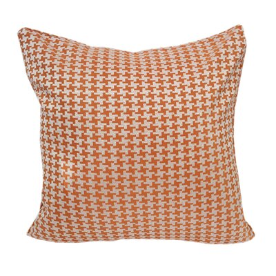 Jessamine Houndstooth Throw Pillow Color: Orange