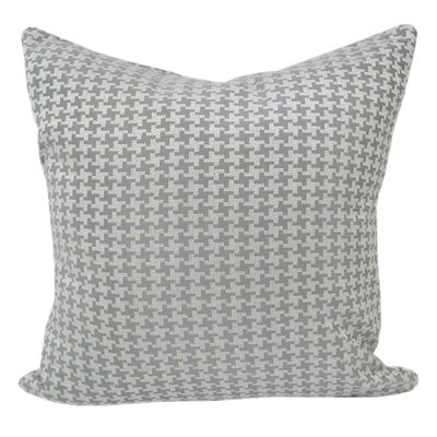 Jessamine Houndstooth Throw Pillow Color: Grey