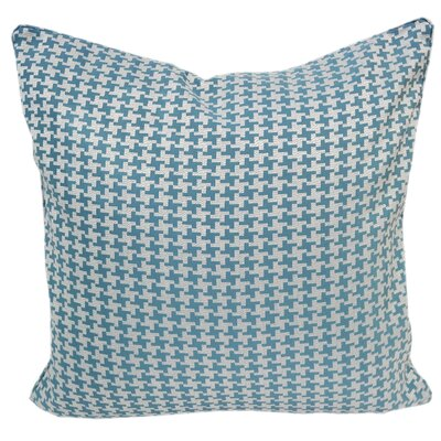 Jessamine Houndstooth Throw Pillow Color: Turquoise