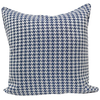 Jessamine Houndstooth Throw Pillow Color: Navy
