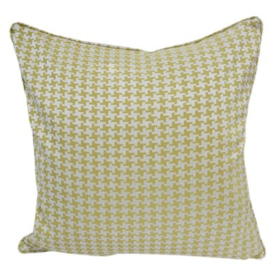 Jessamine Houndstooth Throw Pillow Color: Green