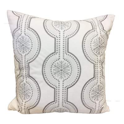 Holiday Velvet Throw Pillow Color: White